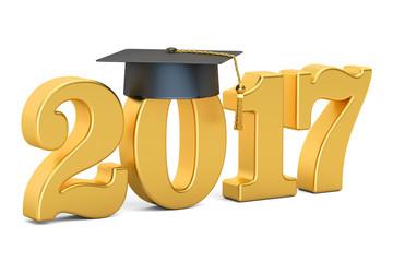 Graduate 2017 golden, 3D rendering