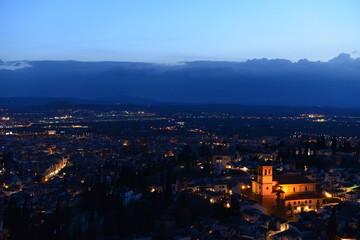 Sonnenuntergang Alhambra-Granada