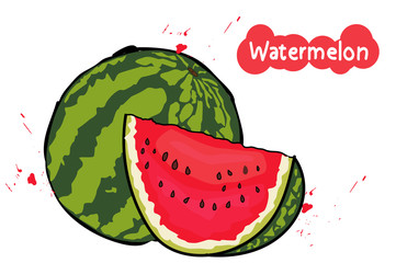 watermelon with seeds.