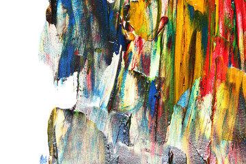 Colorful oil painting texture