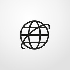 internet icon illustration isolated vector sign symbol