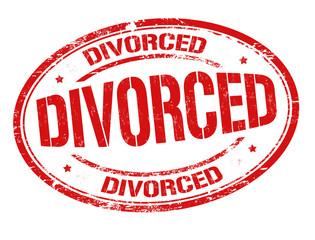 Divorced grunge sign or stamp