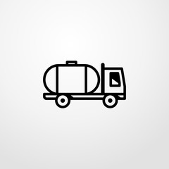 gasoline truck icon illustration isolated vector sign symbol