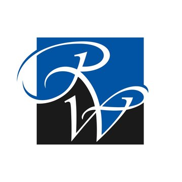 R and w logo vector.