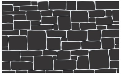 Stone texture, brick background texture in vector