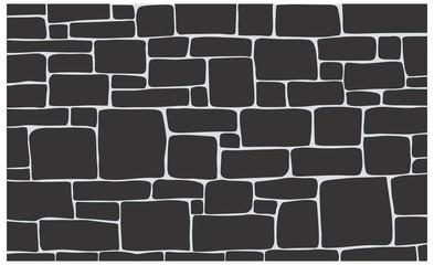 Stone texture, brick background texture in vector