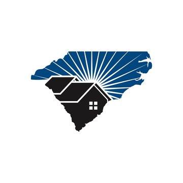 carolina home logo vector.