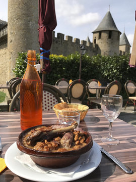 Cassoulet with a view of Château Comtal