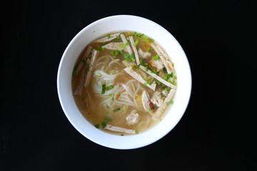 Pork Rice Noodle Soup, Vietnamese style