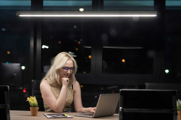 Portrait of young business woman in office