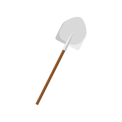 shovel icon over white background. gardening equipment concept. colorful design. vector illustration