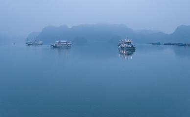 Early morning at Halong Bay. Vietnam