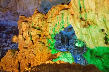 Cave on Halong Bay. Vietnam