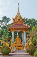 Wat Sisaket temple courtyard. Vientiane.  Laos