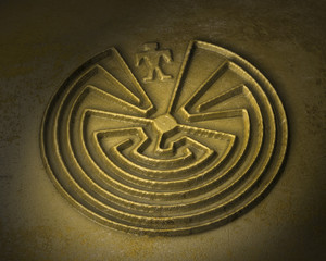 labyrinth - man in the maze