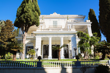Achilleion palace in Corfu Island, Greece, built by Empress of Austria Elisabeth of Bavaria, also known as Sisi