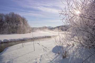 The Winter River of Pekorka