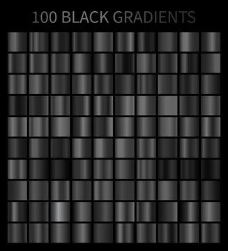 Black gradients 100 big set