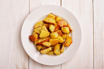 Roasted  baked potato