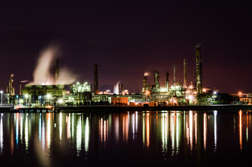 四日市の工場夜景