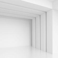 Abstract Architecture Design. White Modern Background