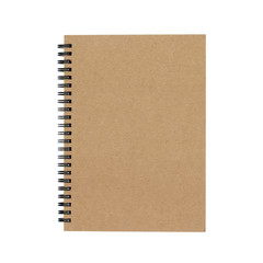 notebook with spiral binder isolated on white background - clipping paths