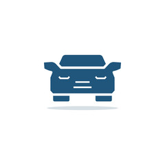 Car icon in flat style. Vector symbol.