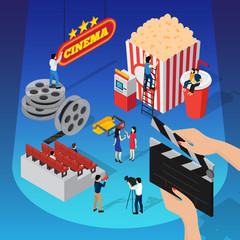 Spotlight Cinema Isometric Concept