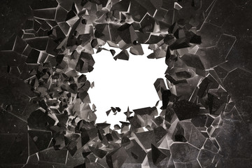 Cracked concrete earth abstract background. 3d rendering