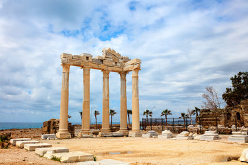 Temple of Apollo built in the 2nd century AD in Side Turkey