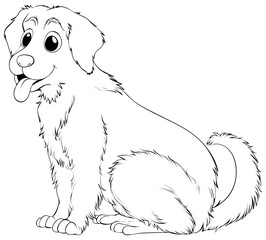 Animal outline for golden retriever