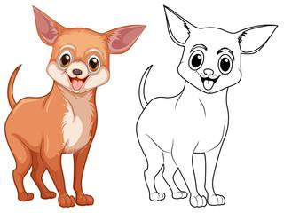 Animal outline for chiwawa dog