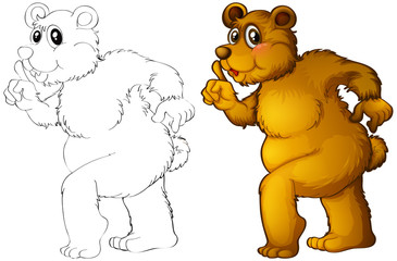 Animal outline for grizzle bear