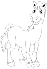 Animal outline for horse standing
