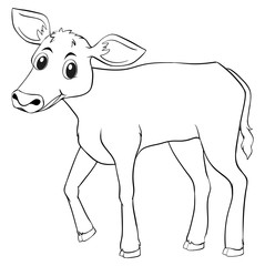 Animal outline for cow