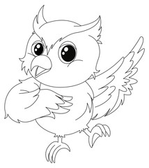 Animal outline for owl