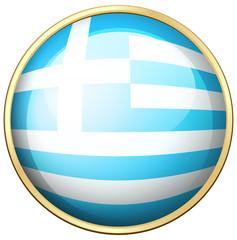 Greece flag on round icon