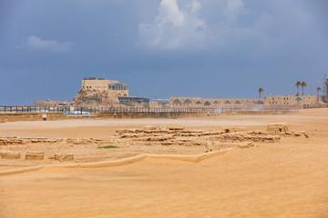 Pferderennbahn - Hippodrom in Caesarea