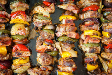 Photo of skewers on the grill
