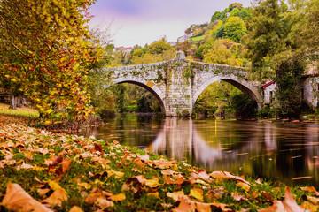 Amanecer en el Puente Romano de Allariz