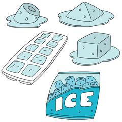vector set of ice