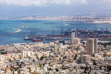 Stadtpanorama - Haifa in Israel