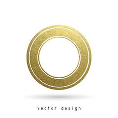 rubber stamp gold illustration