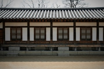 Korean traditional wooden house
