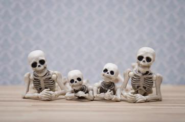 Skeleton family portrait