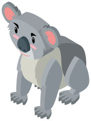 Cute koala bear in 3D design