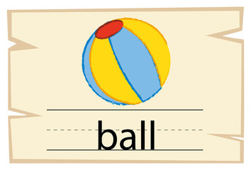 Wordcard for word ball