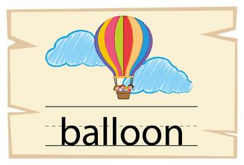Flashcard for word balloon