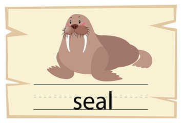 Wordcard for word seal