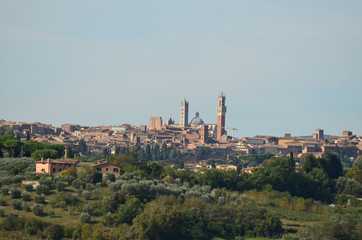 Walled City of Siena in Italy